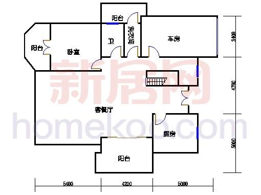 独立别墅C5-3型一层