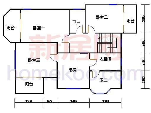 独立别墅C5-3型二层