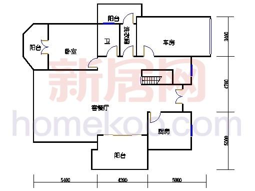 独立别墅C5-4型一层