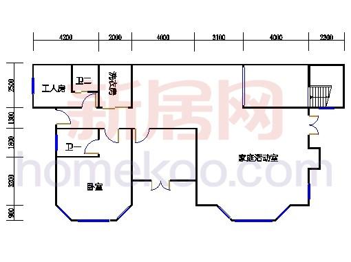 独立别墅D1-2型负一层