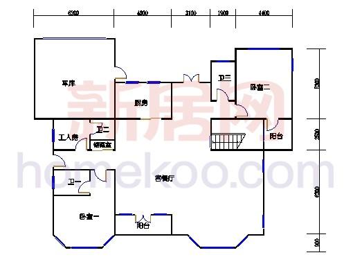 独立别墅D1-2型首层