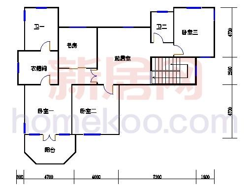 独立别墅D1-2型二层