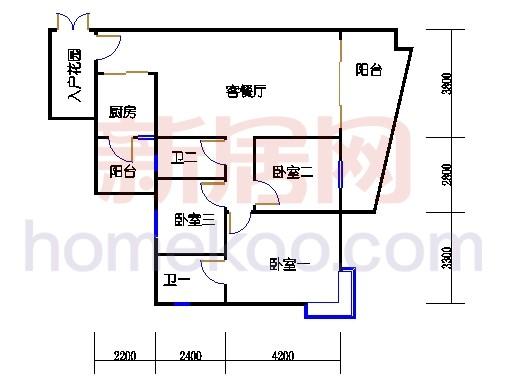 别墅全山景洋房6D栋04单元