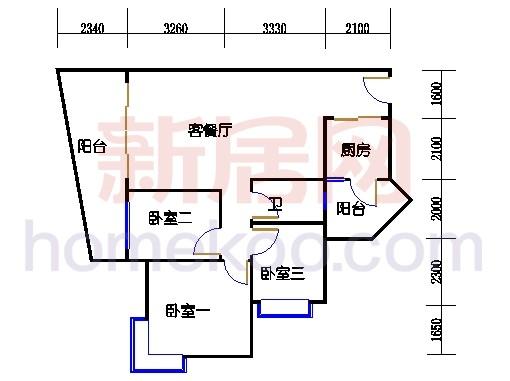 别墅全山景洋房ABC栋2-17层2层03单位