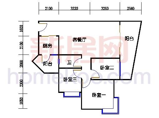 别墅全山景洋房ABC栋2-17层3-5层01单位