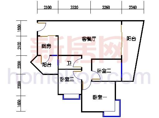 别墅全山景洋房ABC栋2-17层6-15层01单位