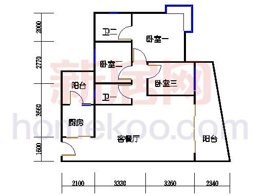 别墅全山景洋房ABC栋2-17层6-15层02单位