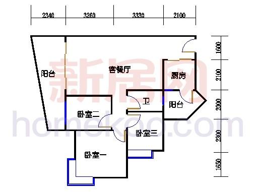 别墅全山景洋房ABC栋2-17层6-15层03单位
