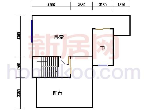 别墅全山景洋房ABC栋顶层复式上层02单位