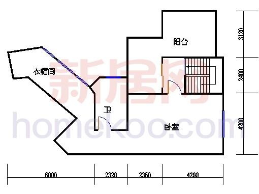 别墅全山景洋房ABC栋顶层复式上层03单位