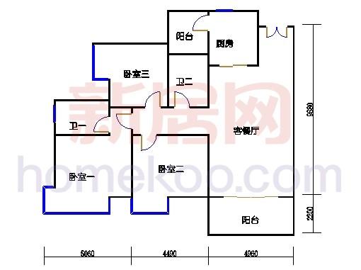 2D-5栋3-11层02单位