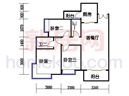 2D-6栋3-15层02单位