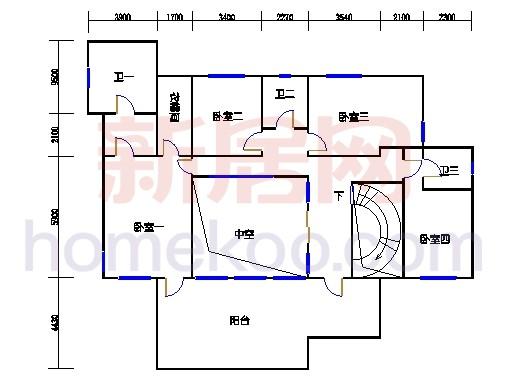 C2型独立别墅二层