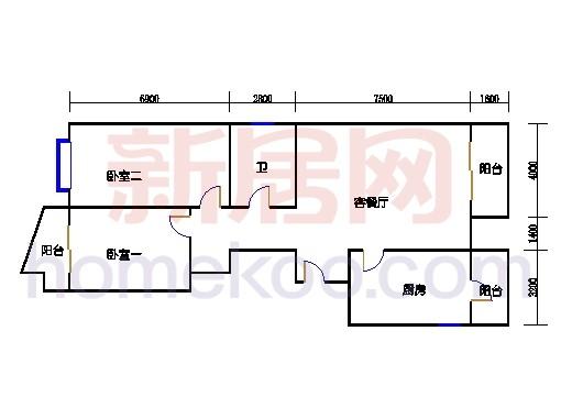 11号楼1-32层A2户型