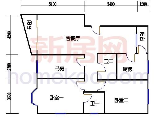 10号楼一层J户型