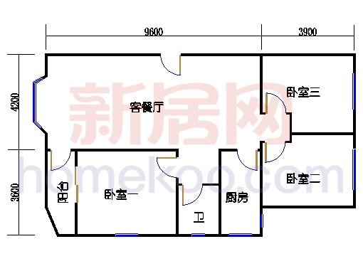 12号楼2-5层C1户型