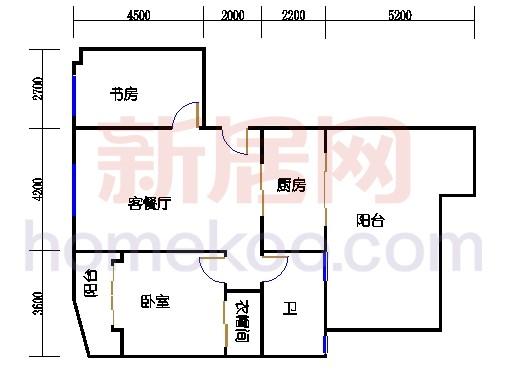 12号楼6层C2户型