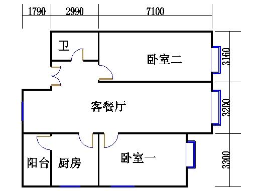 C5、C6号楼C户型