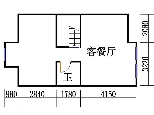 南入口房型A1地下室
