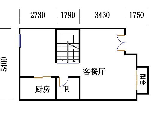 南入口房型A1一层