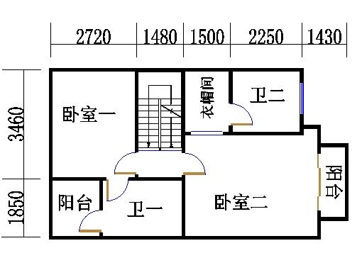 南入口房型A1二层