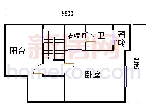 南入口房型A1三层