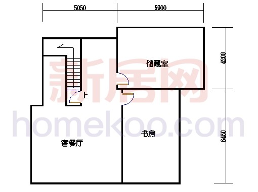独栋别墅A1户型地下室