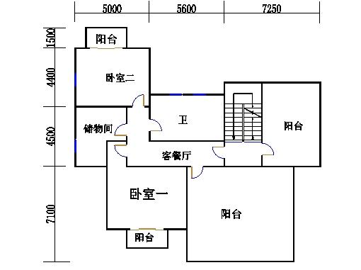独栋别墅A2户型三层
