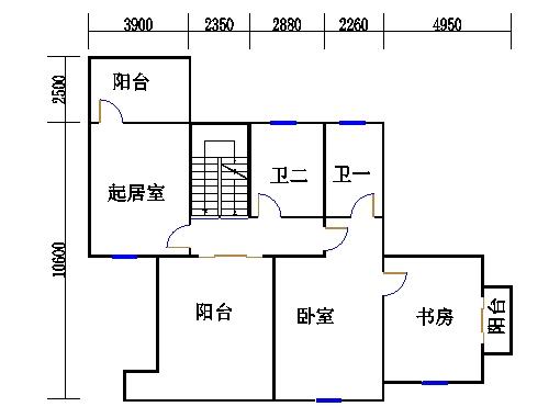 独栋别墅A3户型二层