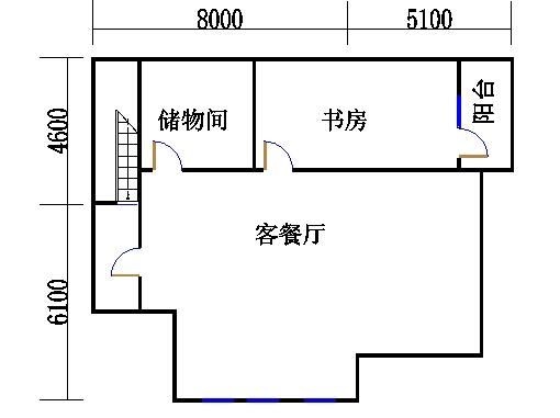 独栋别墅A4户型阁楼