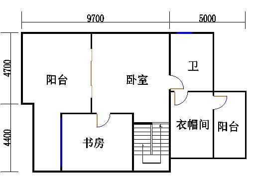 双拼别墅B2户型三层