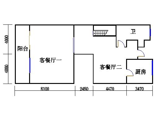 双拼别墅C2户型一层