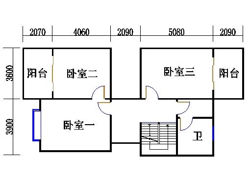 双拼别墅C5户型二层