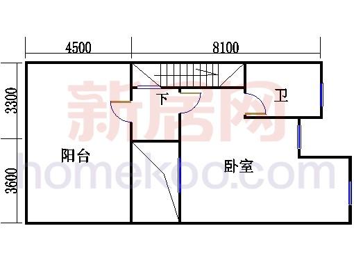 双拼别墅C4户型三层