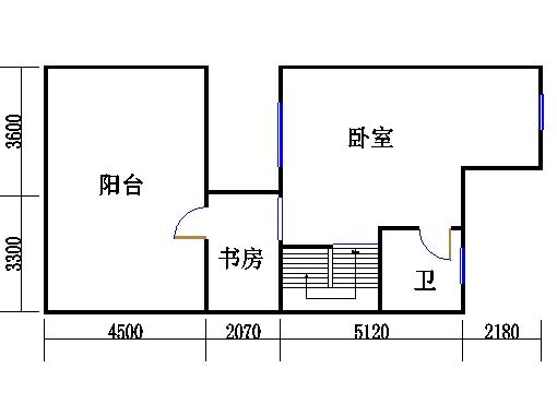 双拼别墅C5户型三层