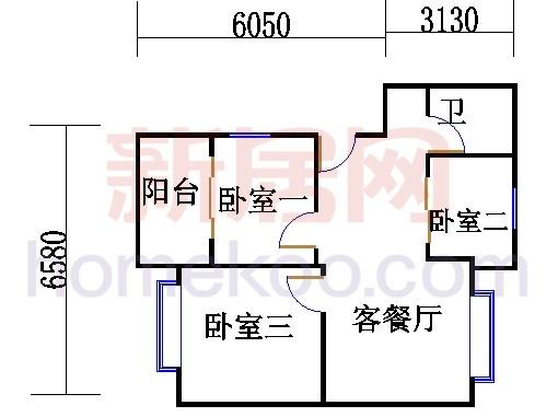 124、125号01室J-1型