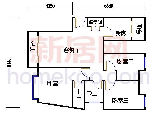 8号楼03单元、9号楼01单元3-20层