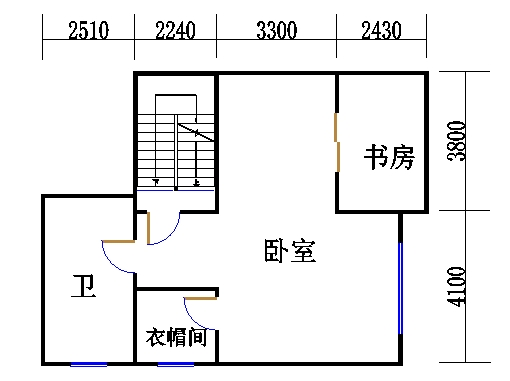 房型A二层