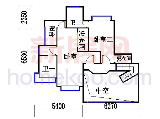 C型复式豪宅一层