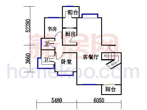C型复式豪宅二层