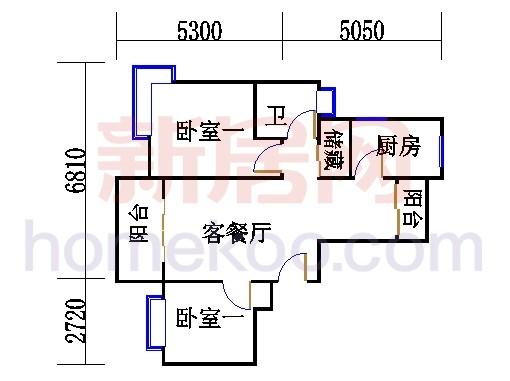 紫薇苑C户型02单位