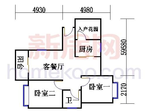 紫薇苑J户型01单位