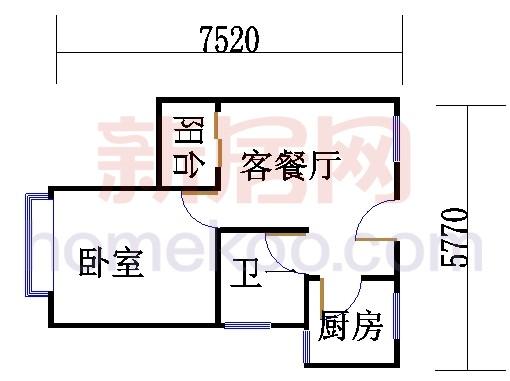 紫薇苑J户型03单位