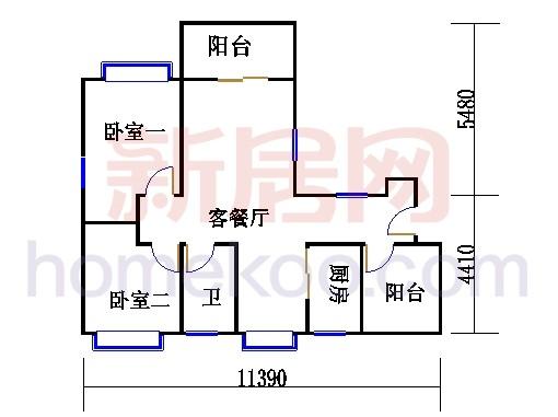 紫薇苑K户型01单位