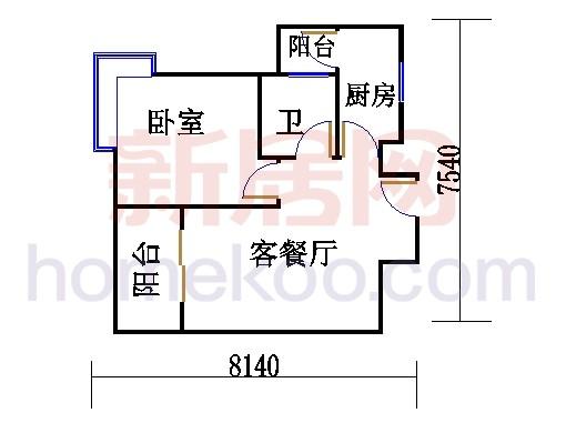 紫薇苑K户型03单位
