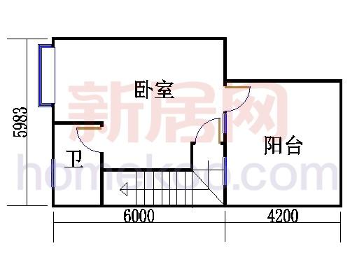 D2型别墅三层