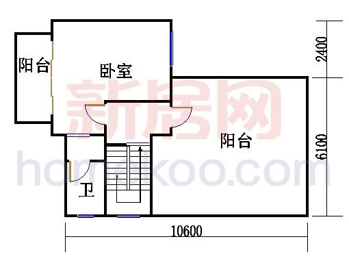 E1型别墅三层