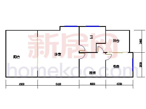 E-b-1型双联体别墅三层