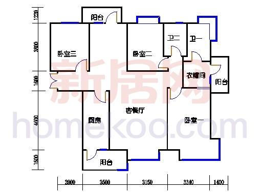 DA2右单元点式品景公寓