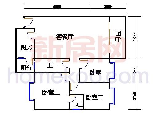 G座3至8层09单元